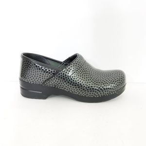 Dansko Embossed Patent Leather Clogs Size 42